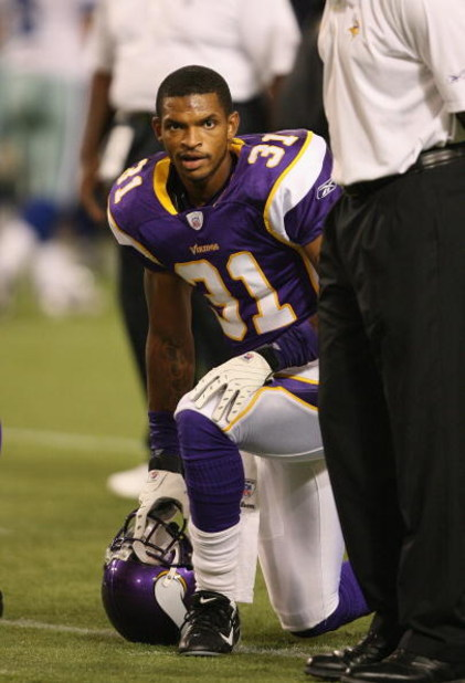 MINNEAPOLIS - AUGUST 30:  Marcus McCauley #31 of the Minnesota Vikings looks on before the game against the Dallas Cowboys on August 30, 2007 at the Metrodome in Minneapolis, Minnesota. The Vikings won 23-14. (Photo by David Sherman/Getty Images)