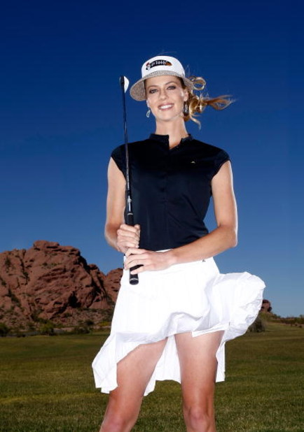 PHOENIX, AZ - MARCH 25:  Anna Rawson poses for a portrait at the Papago Golf Course on March 25, 2009 in Phoenix, Arizona.  (Photo by Jonathan Ferrey/Getty Images)