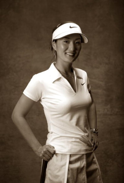 APACHE JUNCTION, AZ - MARCH 21:  (EDITORS NOTE: THIS IMAGE WAS SHOT USING CAMERA'S BLACK AND WHITE MODE)  Grace Park of South Korea poses for a portrait at the LPGA Safeway International on March 21, 2007 at the Superstition Mountain Golf and Country Club