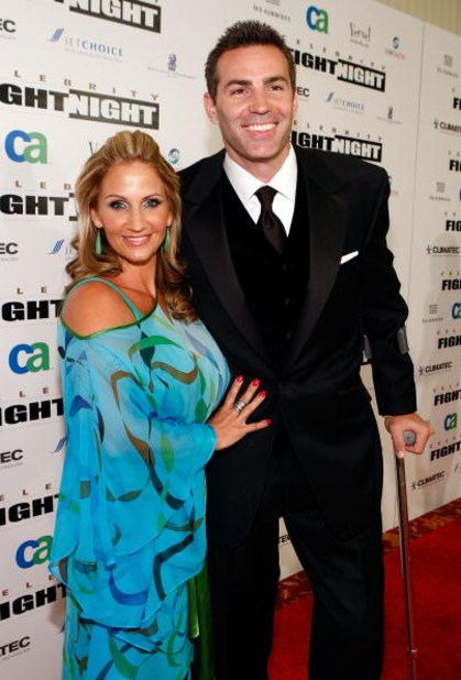 PHOENIX - MARCH 28:  Brenda Warner and NFL player Kurt Warner arrive at Muhammad Ali's Celebrity Fight Night XV held at the JW Marriott Desert Ridge Resort & Spa on March 28, 2009 in Phoenix, Arizona.  (Photo by Michael Buckner/Getty Images for Celebrity