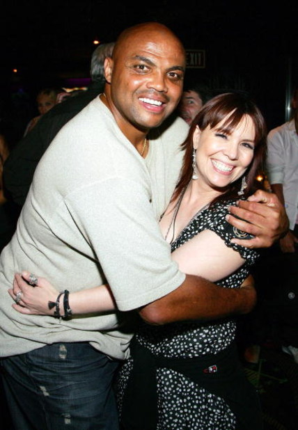 LAS VEGAS - JULY 05:  TNT NBA analyst and former NBA player Charles Barkley (L) and poker player and event co-host Annie Duke pose at the after party for the Ante Up for Africa celebrity poker tournament during the World Series of Poker at the Voodoo Loun