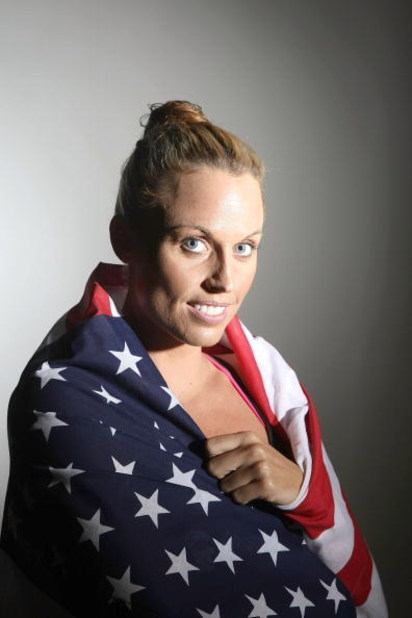 PALO ALTO, CA - JULY 12: Amanda Beard of the U.S. poses for a portrait during the U.S. Olympic Swim Team Media Day at Stanford University on July 12, 2008 in Palo Alto, California.  (Photo by Jed Jacobsohn/Getty Images)