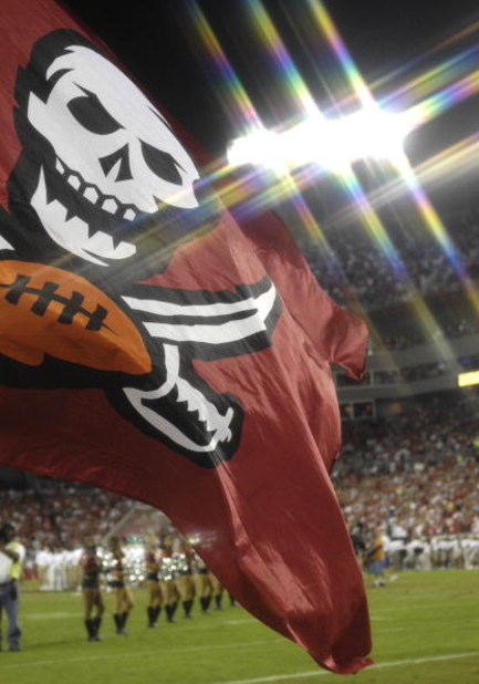 TAMPA, FL - OCTOBER 19: Tampa Bay Buccaneers flag before the game against the Seattle Seahawks at Raymond James Stadium on October 19, 2008 in Tampa, Florida.  (Photo by Al Messerschmidt/Getty Images)