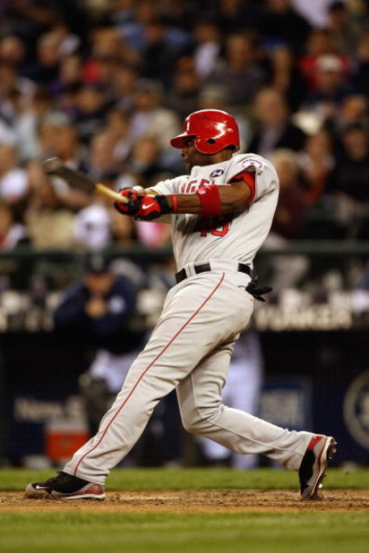 SEATTLE - MAY 21:  Torii Hunter #48 of the Los Angeles Angels of Anaheim bats against the Seattle Mariners during the game on May 21, 2009 in Seattle, Washington. (Photo by Otto Greule Jr/Getty Images)