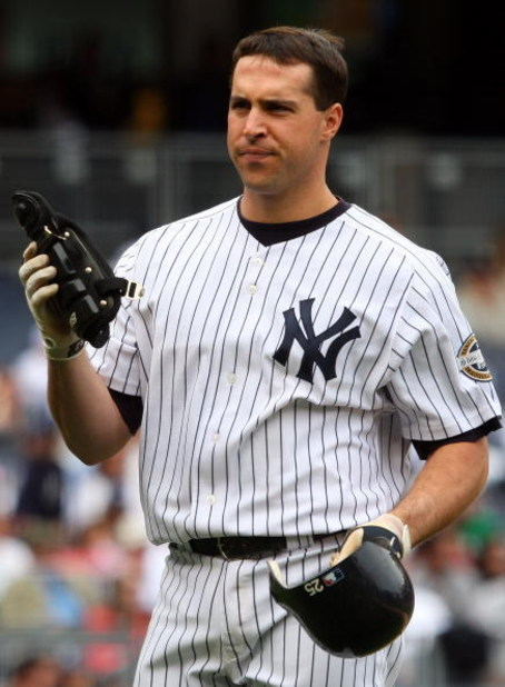 NEW YORK - MAY 17:  Mark Teixeira #25 of the New York Yankees looks on against the Minnesota Twins on May 17, 2009 at Yankee Stadium in the Bronx borough of New York City. The Yankees defeated the Twins 3-2 in ten innings.  (Photo by Jim McIsaac/Getty Ima