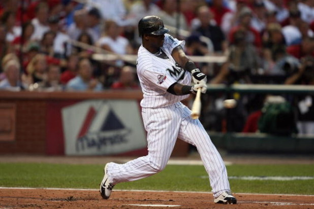 ST. LOUIS, MO - JULY 14:  National League All-Star Hanley Ramirez of the Florida Marlins bats during the 2009 MLB All-Star Game at Busch Stadium on July 14, 2009 in St Louis, Missouri. (Photo by Dilip Vishwanat/Getty Images)