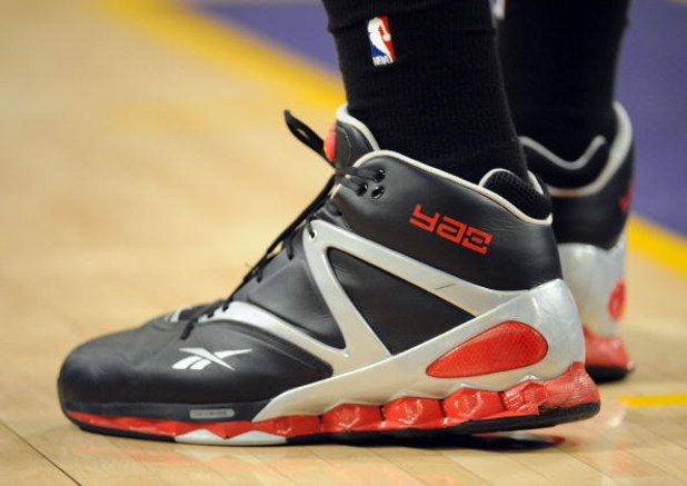 LOS ANGELES, CA - MAY 06:  A detailed picture of the shoe of Yao Ming #11 of the Houston Rockets against the Los Angeles Lakers in Game Two of the Western Conference Semifinals during the 2009 NBA Playoffs at Staples Center on May 6, 2009 in Los Angeles,