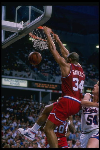 1988-1989:  Forward Charles Barkley of the Philadelphia 76ers goes up for two during a game against the Sacramento Kings at the ARCO Arena in Sacramento, California. Mandatory Credit: Otto Greule  /Allsport
