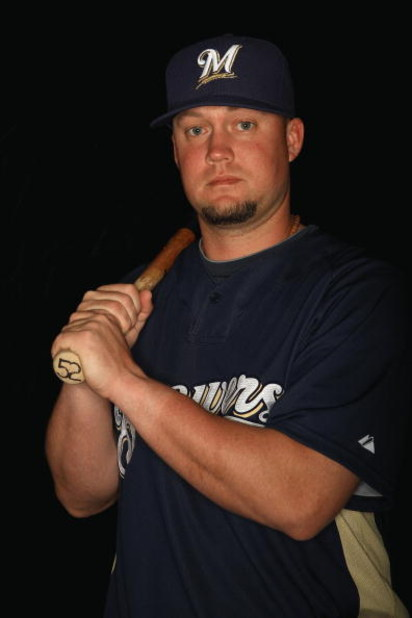 MARYVALE, AZ - FEBRUARY 19: Casey McGehee of the Milwaukee Brewers poses during photo day at the Brewers spring training complex on February 19, 2009 in Maryvale, Arizona. (Photo by Ronald Martinez/Getty Images)