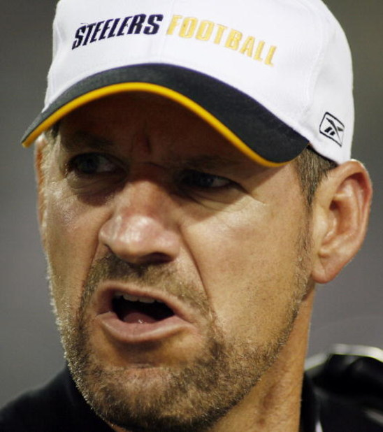 JACKSONVILLE, FL - SEPTEMBER 18:  Head coach Bill Cowher of the Pittsburgh Steelers reacts after a play in the fourth quarter against the Jacksonville Jaguars at Alltel Stadium on September 18, 2006 in Jacksonville, Florida. The Jaguars defeated the Steel