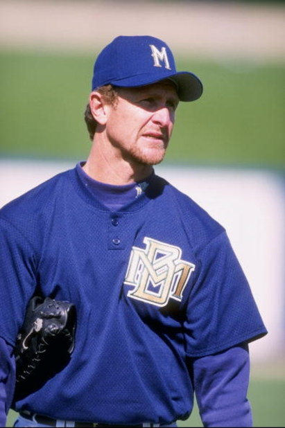 22 Feb 1998:  Team Instructor Robin Yount of the Milwaukee Brewers at Spring Training at the Maryvale Baseball Park in Phoenix, Arizona. Mandatory Credit: Jeff Carlick  /Allsport