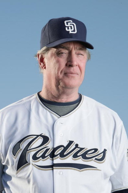 PEORIA, AZ - FEBRUARY 24:  Bench coach Ted Simmons of the San Diego Padres poses during photo day at Peoria Stadium on February 24, 2009 in Peoria, Arizona. (Photo by Donald Miralle/Getty Images)