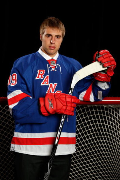 MONTREAL, QC - JUNE 27:  Ethan Werek of the New York Rangers poses for a portrait during the 2009 NHL Entry Draft at the Bell Centre on June 26, 2009 in Montreal, Quebec, Canada.  (Photo by Jamie Squire/Getty Images)