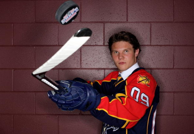 MONTREAL, QC - JUNE 26:  Dmitry Kulikov of the Florida Panthers poses for a portrait after being selected #14 overall by the Panthers during the first round of the 2009 NHL Entry Draft at the Bell Centre on June 26, 2009 in Montreal, Quebec, Canada.  (Pho