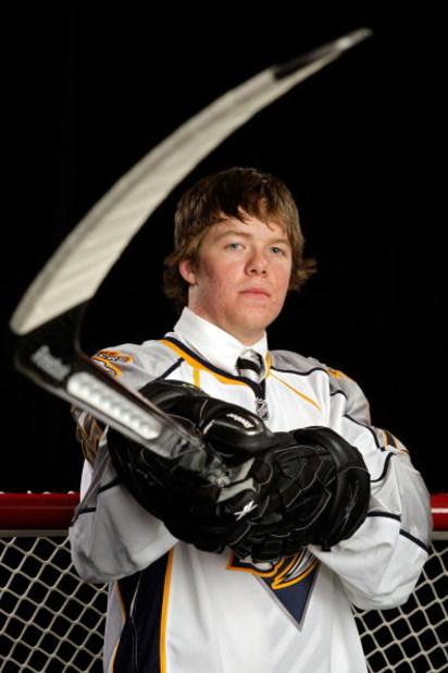 MONTREAL, QC - JUNE 26:  Ryan Ellis of the Nashville Predators after being selected #11 overall by the Predators during the first round of the 2009 NHL Entry Draft at the Bell Centre on June 26, 2009 in Montreal, Quebec, Canada.  (Photo by Jamie Squire/Ge