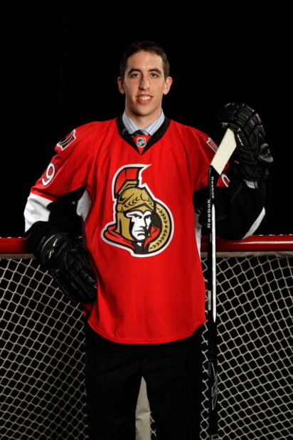 MONTREAL, QC - JUNE 26:  Jared Cowen of the Ottawa Senators poses for a portrait after being selected #9 overall by the Senators during the first round of the 2009 NHL Entry Draft at the Bell Centre on June 26, 2009 in Montreal, Quebec, Canada.  (Photo by