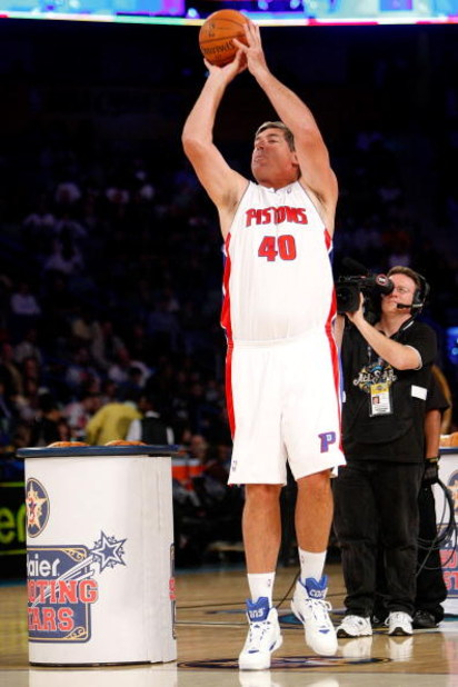 NEW ORLEANS - FEBRUARY 16:  NBA legend Bill Laimbeer participates in the Haier Shooting Stars competition, part of 2008 NBA All-Star Weekend at the New Orleans Arena on February 16, 2008 in New Orleans, Louisiana.  NOTE TO USER: User expressly acknowledge