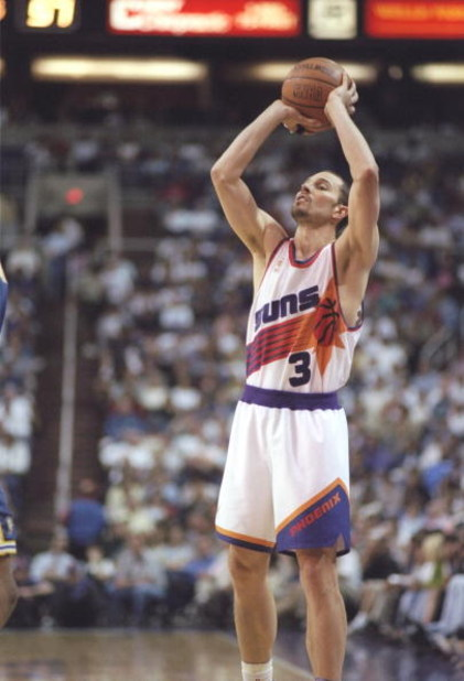 28 Mar 1997: Guard Rex Chapman of the Phoenix Suns shoots the ball during a game against the Golden State Warriors at the America West Arena in Phoenix, Arizona. The Suns won the game 122-115 in overtime.