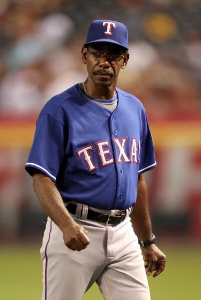 PHOENIX - JUNE 23:  Manager Ron Washington of the Texas Rangers during the major league baseball game against the Arizona Diamondbacks at Chase Field on June 23, 2009 in Phoenix, Arizona. The Diamondbacks defeated the Rangers 8-2.  (Photo by Christian Pet