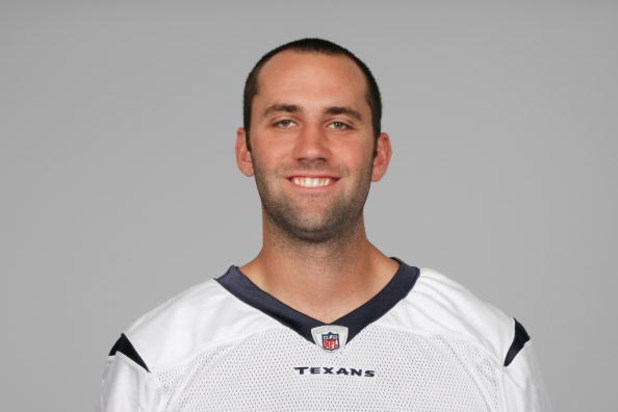 HOUSTON - 2008:  Matt Schaub of the Houston Texans poses for his 2008 NFL headshot at photo day in Houston, Texas.  (Photo by Getty Images)