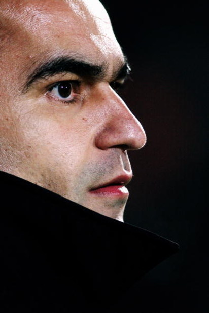 WATFORD, UNITED KINGDOM - FEBRUARY 17:  Swansea Manager Roberto Martinez looks on prior to the Coca-Cola Championship match between Watford and Swansea City at Vicarage Road on February 17, 2009 in Watford, England.  (Photo by Dean Mouhtaropoulos/Getty Im
