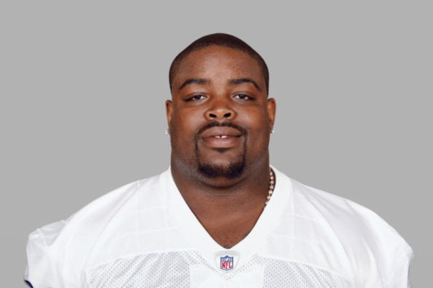 IRVING, TX - 2008:  Tank Johnson of the Dallas Cowboys poses for his 2008 NFL headshot at photo day in Irving, Texas.  (Photo by Getty Images)