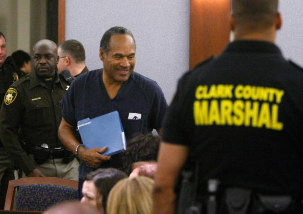 LAS VEGAS - DECEMBER 5:  O.J. Simpson arrives at the Clark County Regional Justice Center December 5, 2008 in Las Vegas, Nevada.  Simpson and co-defendant Clarence 'C.J.' Stewart were sentenced on 12 charges, including felony kidnapping, armed robbery and