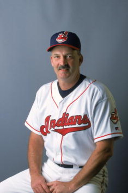 27 Feb 2001:  Bullpen Pitching Coach Carl Willis of the Cleveland Indians poses for a studio portrait during Spring Training at Chain of Lakes Park in Winter Haven, Florida.Mandatory Credit: Rick Stewart  /Allsport