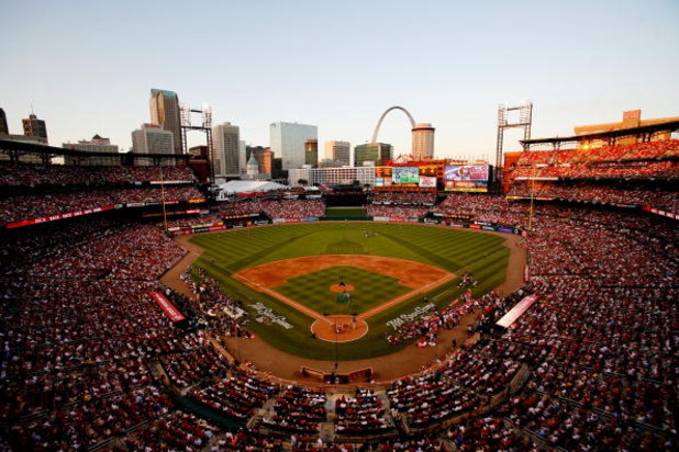 ST LOUIS, MO - JULY 13:  All-Stars compete in the State Farm Home Run Derby at Busch Stadium on July 13, 2009 in St. Louis, Missouri.  (Photo by Dilip Vishwanat/Getty Images)