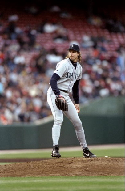 8 Jun 1998:  Randy Johnson #51 of the Seattle Mariners in action during a game against the San Francisco Giants at 3 Com Park in San Francisco, California. The Giants defeated the Mariners 4-3. Mandatory Credit: Otto Greule Jr.  /Allsport