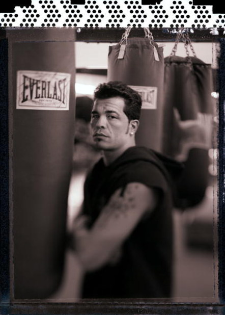 JERSEY CITY, NJ - AUGUST 9:  Boxer Arturo Gatti poses during a photo shoot at the World Boxing and Fitness Center in Jersey City, New Jersey on August 9, 2006.  (Photo by Al Bello/Getty Images)