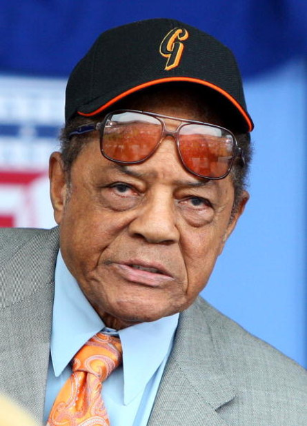 COOPERSTOWN, NY - JULY 26:  Baseball icon Willie Mays looks on at Clark Sports Center during the 2009  Baseball Hall of Fame induction ceremony on July 26, 2009 in Cooperstown, New York.  (Photo by Jim McIsaac/Getty Images)