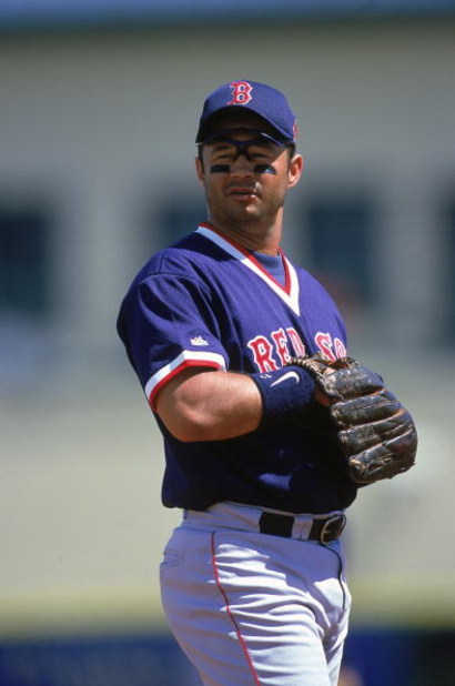 13 Mar 2000:  John Valentin #13 of the Boston Red Sox looks on the field during the Spring Training Game against the Montreal  Expos in Jupiter, Florida. Mandatory Credit: Matthew Stockman  /Allsport