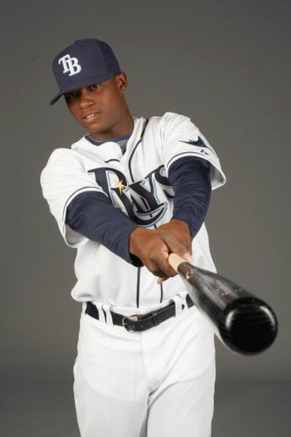PORT CHARLOTTE, FLORIDA - FEBRUARY 20: Tim Beckham #64 of the Tampa Bay Rays poses during Photo Day on February 20, 2009 at the Charlotte County Sports Park in Port Charlotte, Florida. (Photo by: Nick Laham/Getty Images)