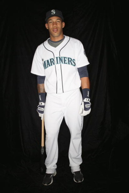 PEORIA, AZ - FEBRUARY 20: Greg Halman #69 of the Seattle Mariners poses during photo day at the Mariners spring training complex on February 20, 2009 in Peoria, Arizona.  (Photo by Ronald Martinez/Getty Images)