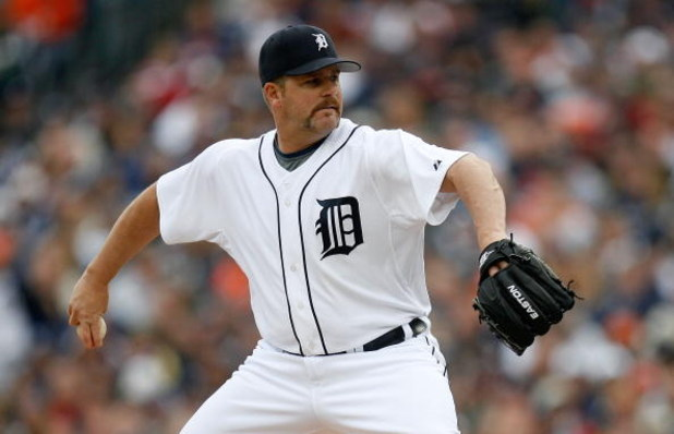 DETROIT - MARCH 31:  Todd Jones #59 of the Detroit Tigers throws a pitch against the Kansas City Royals during their game on Opening Day on March 31, 2008 at Comerica Park in Detroit, Michigan.  (Photo by Gregory Shamus/Getty Images)