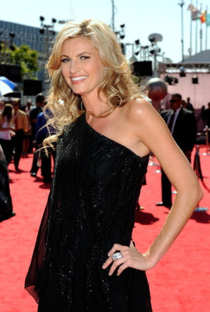 LOS ANGELES, CA - JULY 15:  ESPN reporter Erin Andrews arrives at the 2009 ESPY Awards held at Nokia Theatre LA Live on July 15, 2009 in Los Angeles, California. The 17th annual ESPYs will air on Sunday, July 19 at 9PM ET on ESPN.  (Photo by Kevork Djanse