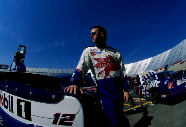 29 Mar 1998:  Jeremy Mayfield in action during the Food City 500 at the Bristol Motor Speedway in Bristol, Tennessee. Mandatory Credit: David Taylor  /Allsport