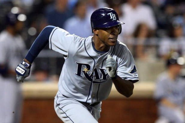 NEW YORK - JUNE 19:  B.J. Upton #2 of the Tampa Bay Rays runs against the New York Mets on June 19, 2009 at Citi Field in the Flushing neighborhood of the Queens borough of New York City.  (Photo by Jim McIsaac/Getty Images)