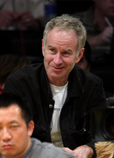 LOS ANGELES, CA - APRIL 27:  John McEnroe attends the Los Angeles Lakers vs Utah game at Staples Center on April 27, 2009 in Los Angeles, California.  (Photo by Noel Vasquez/Getty Images)