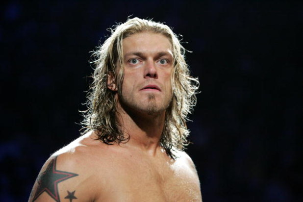 SYDNEY, AUSTRALIA - JUNE 15:  World Heavyweight Champion Edge during WWE Smackdown at Acer Arena on June 15, 2008 in Sydney, Australia.  (Photo by Gaye Gerard/Getty Images)