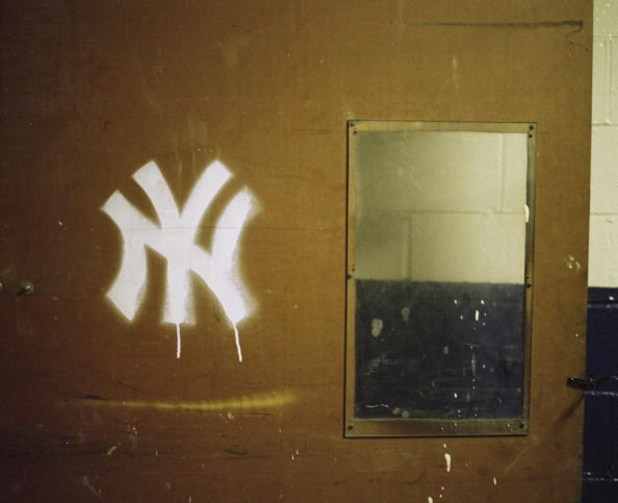 NEW YORK - JUNE 3: A general view of a New York Yankee logo on a door at Yankee Stadium on June 3, 2008 in the Bronx borough of New York City. The 85 year old ball park will be closed after the 2008 season as the New York Yankees move to the new Yankee St