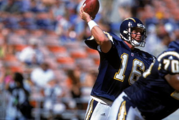 24 Sep 2000:  Ryan Leaf #16 of the San Diego Chargers gets ready to pass the ball during the game against the Seattle Seahawks at Qualcomm Stadium in San Diego, California. The Seahawks defeated the Chargers 20-12.Mandatory Credit: Stephen Dunn  /Allsport