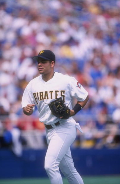 14 Jun 1998:  Aramis Ramirez #16 of the Pittsburgh Pirates in action during a game against the Milwaukee Brewers at the Three Rivers Stadium in Pittsburgh, Pennsylvania. The Pirates defeated the Brewers 7-2. Mandatory Credit: Ken White  /Allsport