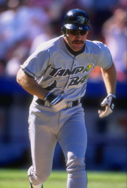 10 Jun 1998: Wade Boggs #12 of the Tampa Bay Devil Rays in action during a game against the New York Mets at Shea Stadium in Flushing, New York. The Mets defeated the Devil Rays 3-2.