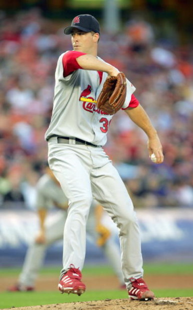 NEW YORK CITY, NEW YORK - AUGUST 23:  Mark Mulder #30 of the St. Louis Cardinals pitches against the New York Mets at Shea Stadium on August 23, 2006 in New York City.  (Photo by Ezra Shaw/Getty Images)