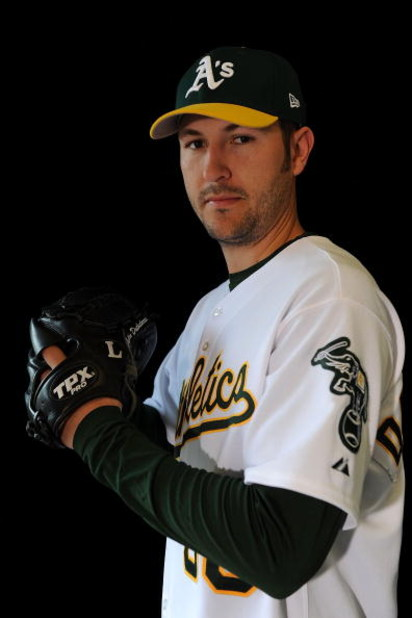 PHOENIX - FEBRUARY 22:  John Duchscherer of the Oakland Athletics poses during photo day at the Athletics spring training complex on February 22, 2009 in Phoenix, Arizona.  (Photo by Ronald Martinez/Getty Images)