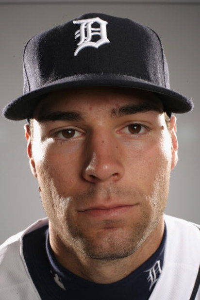 LAKELAND, FL - FEBRUARY 23:  Scott Sizemore of the Detroit Tigers poses for a portrait during Photo Day on February 23, 2008 at Joker Marchant Stadium in Lakeland, Florida. (Photo by: Nick Laham/Getty Images)