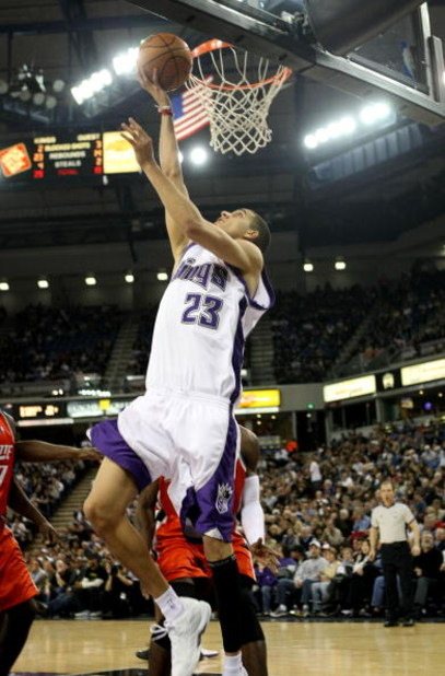SACRAMENTO, CA - JANUARY 30:  Kevin Martin #23 of the Sacramento Kings shoots against the Charlotte Bobcats during an NBA game on January 30, 2008 at ARCO Arena in Sacramento, California. NOTE TO USER: User expressly acknowledges and agrees that, by downl
