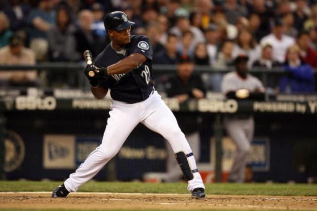 SEATTLE - MAY 22:  Adrian Beltre #29 of the Seattle Mariners bats during the game against the San Francisco Giants on May 22, 2009 in Seattle, Washington. The Mariners defeated the Giants 2-1 in twelve innings. (Photo by Otto Greule Jr/Getty Images)